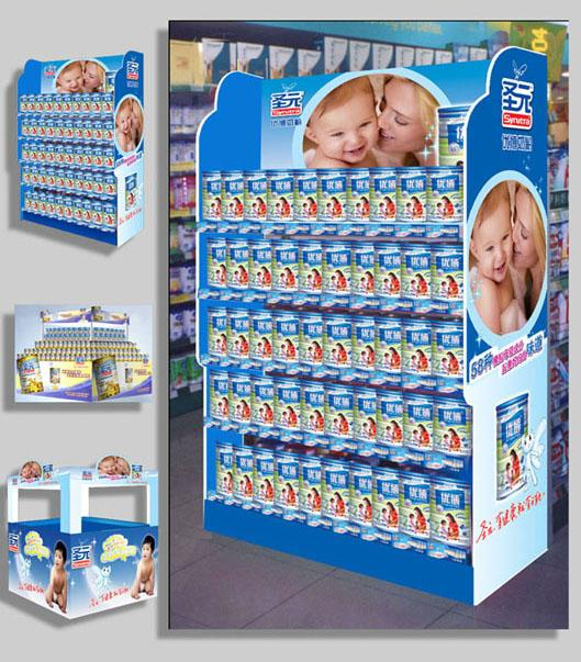 供应塑料堆头制作超市形象推头造型图片