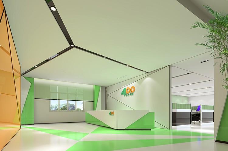 办公室前台装饰设计效果图片