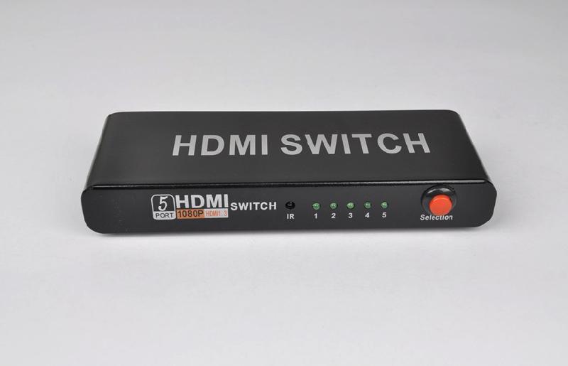 切换器图片 切换器样板图 HDMI切换器5切1 深圳市四景电...