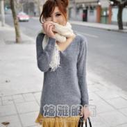 女士兔毛毛衣图片