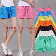 夏季女装百搭女王推荐的韩版糖果裤批发亮色休闲运动裤