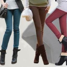 加厚牛仔裤批发女装时尚牛仔裤批发加厚加绒打底裤批发