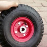 3504橡胶充气轮10寸定向万向轮子图片