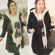 韩版棉衣女装风衣连帽外套加绒加厚图片