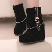 供应欧美新款秋冬短靴英伦厚底水钻裸靴单靴子粗跟高跟马丁靴女鞋批发