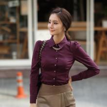 供应女装2012新款秋装女士韩版白色衬衣女款长袖衬衫批发
