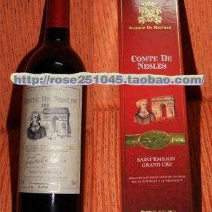 雷勒伯爵紅葡萄酒2005图片