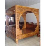 花梨木架子床图片