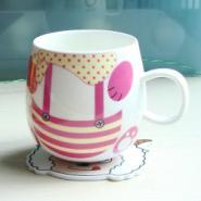 温馨杯垫pvc隔热杯垫吧垫绕线器图片