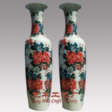 供应粉彩瓷花瓶厂家陶瓷大花瓶