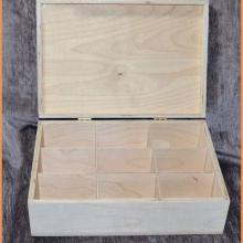 供应厂家直销九格密度板带锁茶叶盒