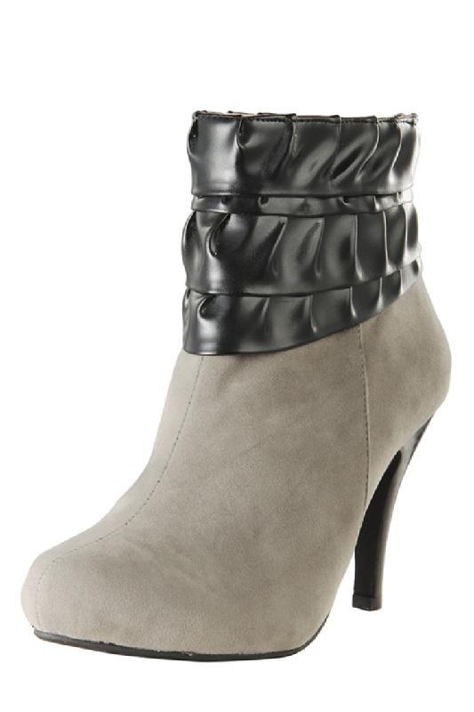 东莞高跟女鞋时尚休闲短靴批发图片|东莞高跟女鞋