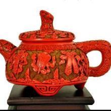 供应雕漆收藏品紫砂壶