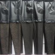 双层加厚海狸毛皮裤保暖裤图片