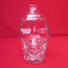 骷髅头骨玻璃酒瓶 伏特加烈酒酒瓶 高白料玻璃制品厂 出口外贸