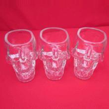 骷髅头骨酒杯 创意白酒杯 伏特加烈酒玻璃杯子 出口外贸玻璃制品