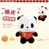 供应多美宝贝唐装熊猫公仔情侣