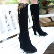 时尚潮流欧美真皮热销骑士靴高筒靴图片