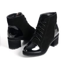 供应欧菲丝曼热卖真皮女靴短靴马丁靴欧美时尚潮流新品牛皮上斑竹学生鞋批发
