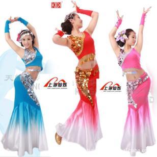 上海展会民族舞服装租赁舞台表演服图片