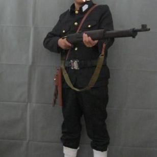 上海展会红卫兵服装备租赁八路军服图片