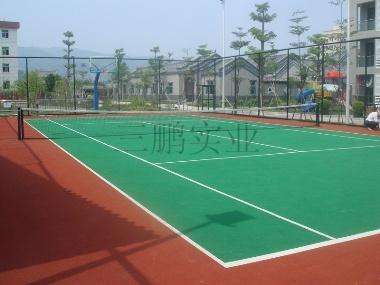 宣城网球场篮球场羽毛球场地面材料图片