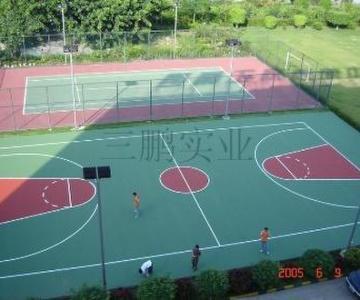 供应宣城网球场篮球场羽毛球场地面材料图片