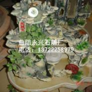石雕流水盆景图片