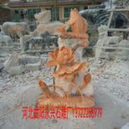 石雕荷花鱼图片