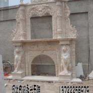 河北曲阳县双层壁炉雕刻厂家图片