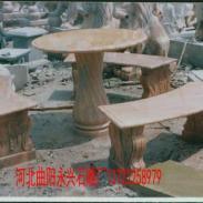 曲阳桌凳石雕图片