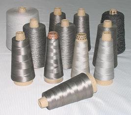 供应用于金属导电面料的金属丝复合纱线