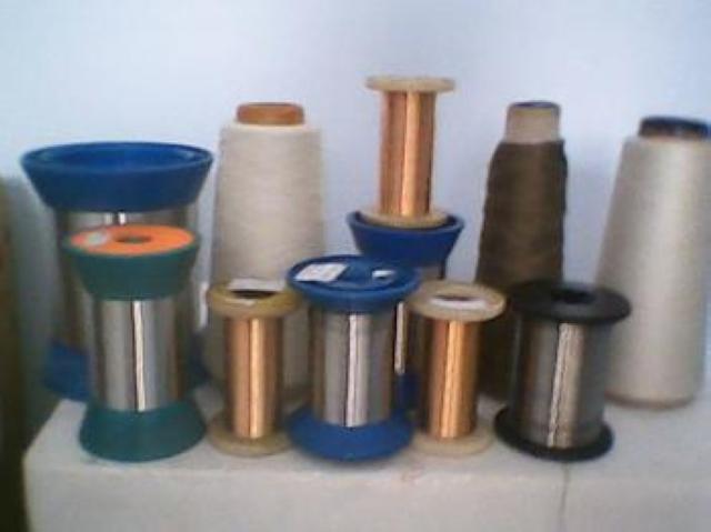 金属纱线防辐射纱线功能面料专用纱线40s+68d金属丝