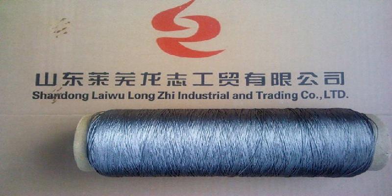 供应金属纤维捻线100不锈钢纤维纱线耐高温纱线
