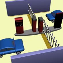供应远距离停车场系统无需手动刷卡批发