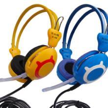 供应自由度超强抗暴力网吧耳机高品质低售后优质皮耳套佩戴舒适电脑耳机批发