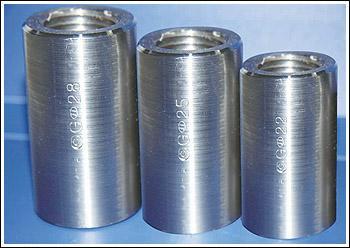 大连钢筋冷压连接套筒/ 45号钢钢筋连接套筒厂家