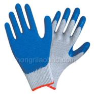 10针棉纱乳胶手套-劳保手套图片