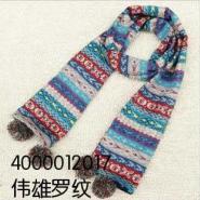 冬季保暖围巾围脖100腈纶提花图片