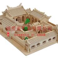 四合院3D木制拼图厂家价格图片