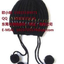 供应儿童毛球毛线针织帽定做批发