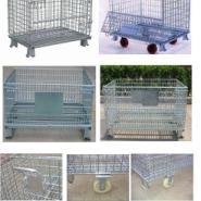 供应周转网柜 周转柜、周转箱、可折叠铁笼、带中空板仓储笼、网笼子