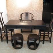 红木类黑檀木茶桌图片