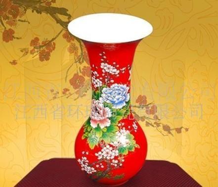 供应红色陶瓷花瓶