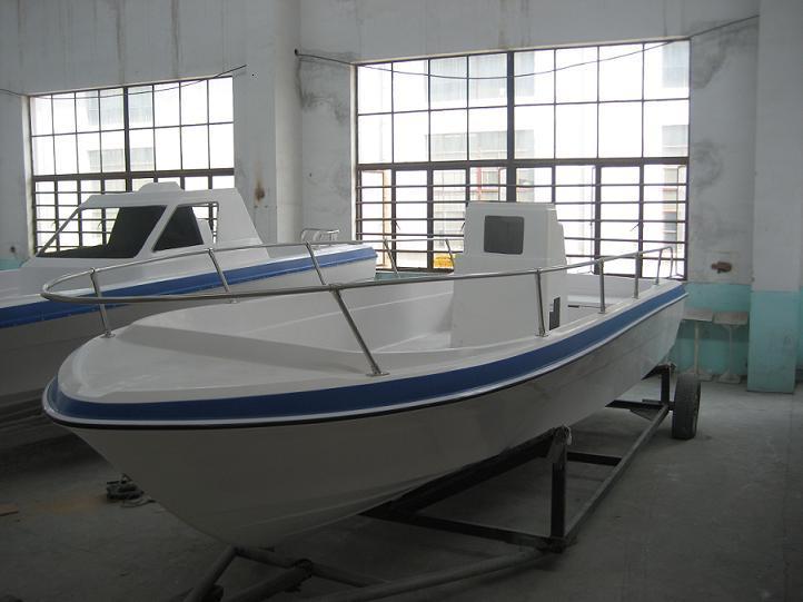 海安19英尺玻璃钢渔船养殖船快艇图片图片