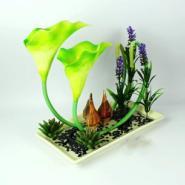 仿真植物瓷盆马蹄莲图片