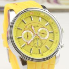 供应假六针硅胶手表GENEVA日内瓦硅胶表时尚男士手表批发图片