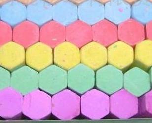 六角粉笔图片