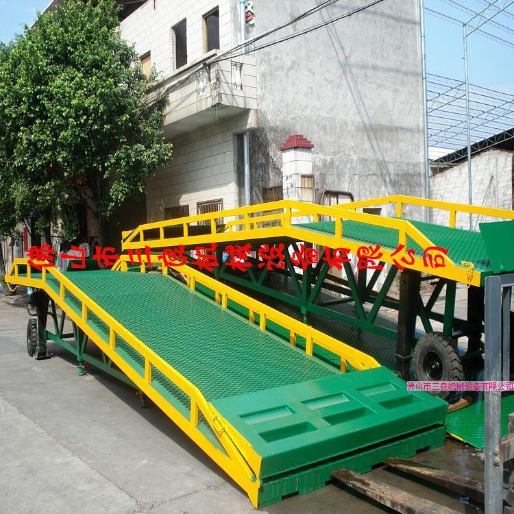 供应东莞凤岗货柜车上下货桥梁   找佛山三良机械生产厂家