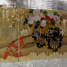 供应大型立体浮雕漆画高档油画生产厂家图片